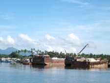 ore barges in Rio Tuba