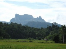 Mountains in south Palawan